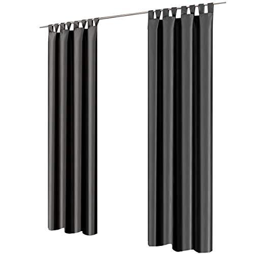 Gräfenstayn® Figura - cortina de oscurecimiento con bucles - 140 x 2