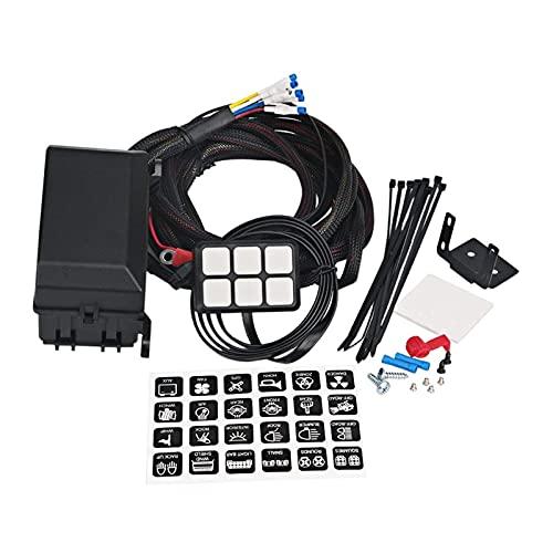 ZHANGXL XELIAN 6 Panel de interruptores de pandillas Sistema de relé electrónico Caja de Control de circuitos a Prueba de fusibles Relé de relé de cableado Ajustes de arnés Ajuste para automóvil AU