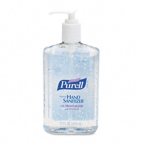 1-12oz PURELL Original Bottle (with Pump and Places Holder Dispenser)