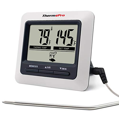 ThermoPro TP04 Digital Cooking Meat Thermometer with Stainless Steel Probe...