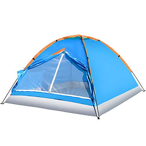 Hiking 2P Tent Waterproof Single Layer 2 Person 3 Season Backpacking Tent Outdoor Family Camping Hunting Fishing Hiking Travel Tents 2 Person Camping Backpacking Tent