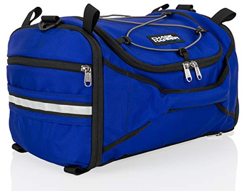 Chase Harper USA 4250 Deluxe Hide-Away Tail Trunk - Water-Resistant, Tear-Resistant, Industrial Grade Ballistic Nylon - Universal Fit Bungee Mount System - Blue