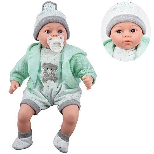 18' Lifelike Large Size Soft Bodied Baby Doll Girls Boys Toy Dolly With...