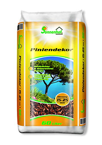 Sonnenhof® Pinienrinde 60 Liter 15-25 mmTerrarienerde Dekorrinde Rindenmulch Dekorinde Dekomulch