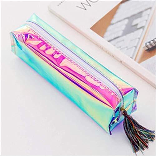 Durable Cool Apperance Student Supplies - Étui à crayons - Poche de rangement for papeterie - Étui à crayons - Blanc (Color : Multicoloured)