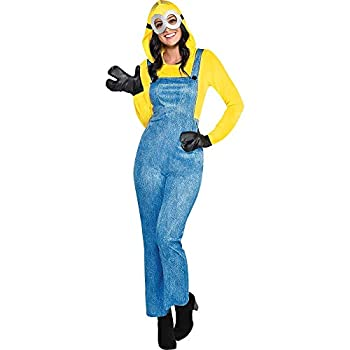 Party City Minion Halloween Costume for Women Minions  The Rise of Gru Medium  6-8  Includes Goggles and More