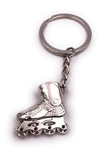 H-Customs Inline Skates Rollschuhe Sport Silber Schlüsselanhänger Anhänger
