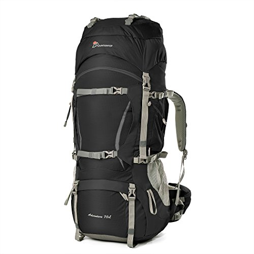 MOUNTAINTOP 70L Hiking Backpack Waterproof Internal Frame Backpacks Large Trekking...