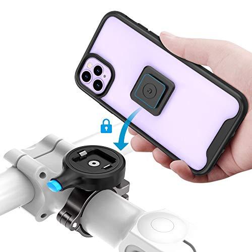 Sokusin - Soporte para bicicleta de metal para iPhone 11 Pro, aleación de aluminio de un segundo lanzamiento para bicicleta, soporte para manillar de motocicleta