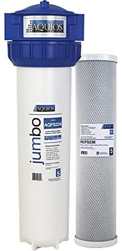 Aquios Jumbo Salt Free Full House Water Softener and Filter System -...