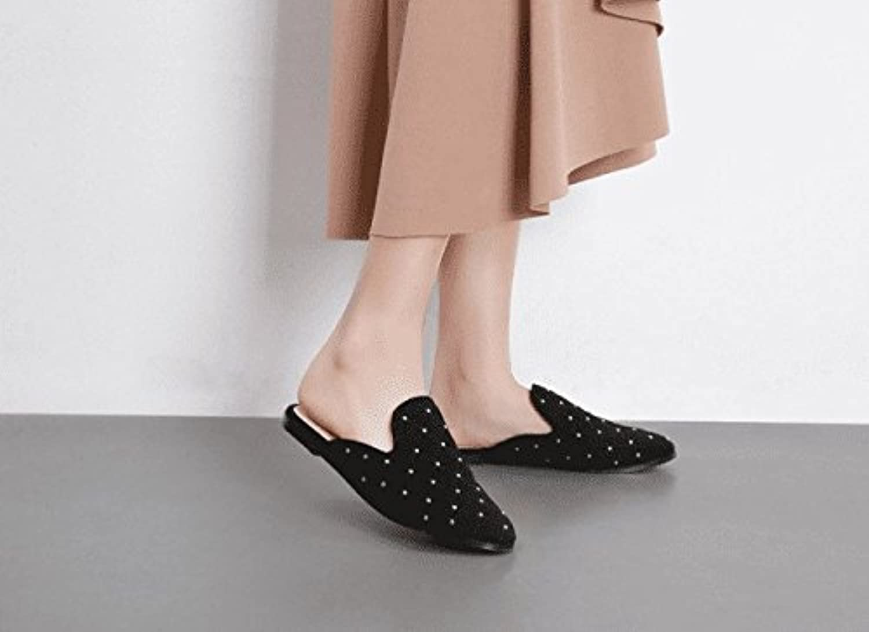 AWXJX Sommer Damen Flip Flops Baotou Casual Oberbekleidung Half Drag Flat mit
