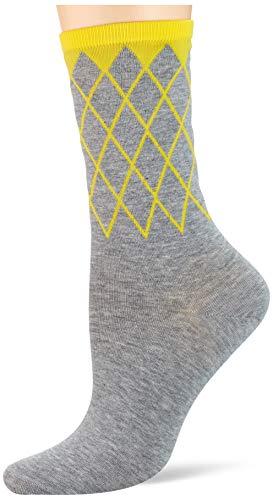 Burlington Damen Mayfair W SO Socken, Grau (Light Grey/Red 3408), 36-41