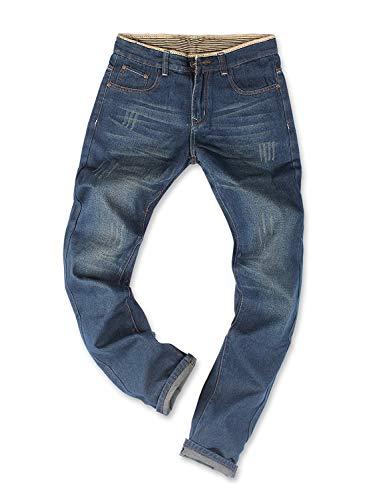 Demon&Hunter Basic Series Men's Regular Straight Leg Jeans DH8031U(36)