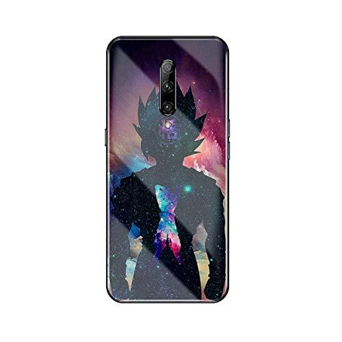 FUTURECASE Carcasa de cristal templado para OnePlus 5 5T 6 6T 7 7T 8 Pro de dibujos animados Dragon Ball Z (2, OnePlus 5)