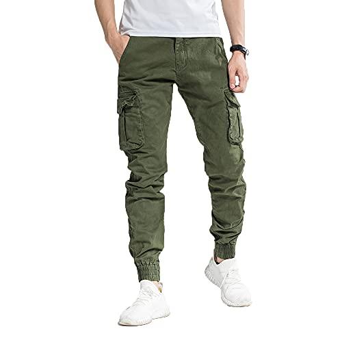 Tony Backer Pantaloni Casual Uomo Pantaloni Cargo Uomo (Verde, 44 IT)