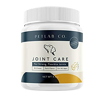 Petlab Co. Joint Care Chews for Dogs | Packed Essential Vitamins to Promote Dog Hip and Joint Health | MSM, Glucosamine, Fish Oil Omega-3 Fatty Acids, Calcium Fluoroborate, Turmeric