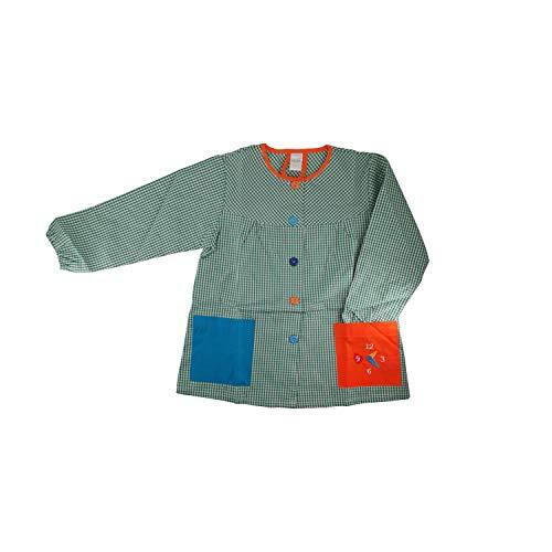 Kiz Kiz Bata Escolar Infantil Baby Infantil de Cuadros Pequeños (Verde, 2 3 años)