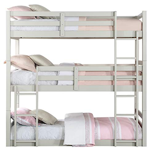 ACME Ronnie Bunk Bed - Triple Twin - - Light Gray