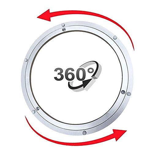 AGGF Rodamientos giratorios de Aluminio Lazy Susan de 12 cm a 58 cm, Base de Placa giratoria de Alta Resistencia, Plataforma giratoria silenciosa en Mesa de Comedor para Tablero de Vidrio/Table