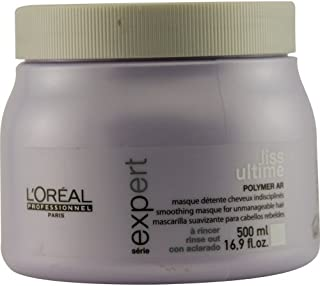 L'Oreal Professionnel Serie Expert Liss Ultime Smoothing Masque For Unmanageable Hair, 16.9 Ounce