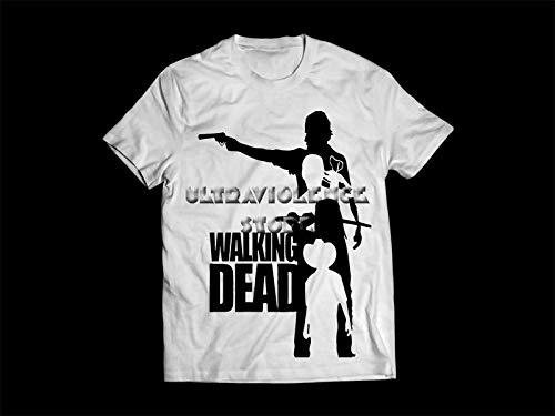 Camiseta/Camisa Masculina The Walking Dead Série Tamanho:P;Cor:Branco