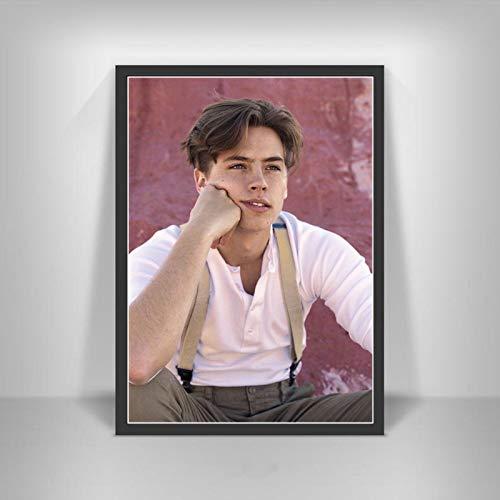Póster de Cole Sprouse, impresiones, nueva serie de TV, estrella de cine, actor artístico, lienzo, pintura al óleo, cuadros de pared para la decoración del hogar (V1175) 40X60CM NO frame poster