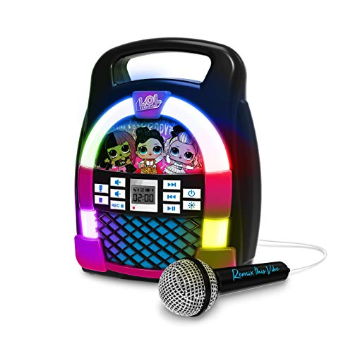KIDdesigns LOL SURPRISE Bluetooth MP3 Sing Along Karaoke Machine - Kids Wireless...