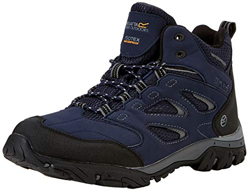 Regatta Men's Holcombe IEP Mid High Rise Hiking Boots Blue (Navy/Granite 1l6), 8 UK,(42 EU)