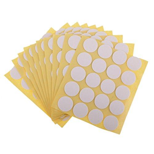 AOFOX Kerze-Docht-Aufkleber, hergestellt aus hitzebeständigem Kleber haften fest in heißem Wachs für die Kerzenherstellung (100 Stück)