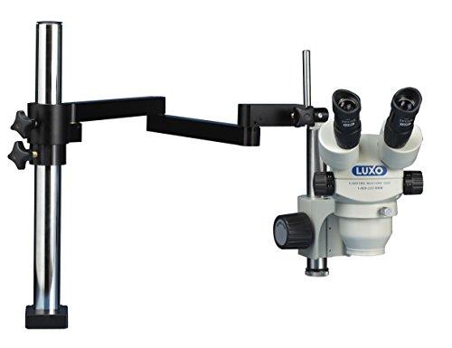 Luxo 23714AC Binocular Microscope, 23 mm, Optics, Articulating Arm Stand, 17.5' Height, 10' Wide, 26' Length