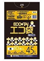 ゴミ袋45L 600x850x0.015厚 黒 10枚 HDPE素材