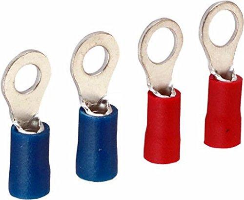 Triuso Kabelschuhe- Ringform je 10 Stück- groß und klein Ringöse Kabelschuh für Schrauben Kabelöse Ringschuh