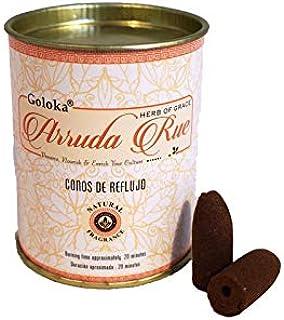 Goloka Incienso Conos Reflujo - Arruda Rue- 18 Conos Aroma Ruda