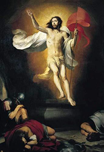 Ressurreição de Cristo (1650) de Murillo - 30x44 - Tela Canvas Para Quadro