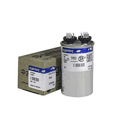 Genteq C325R 25 UF MFD X 370 Vac GE Industrial Replacement Capacitor Round, 97F9606