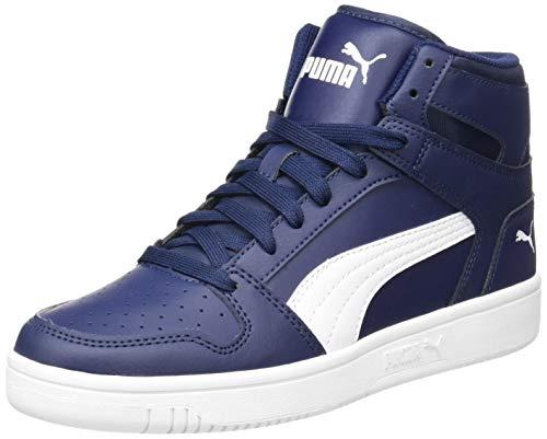 Puma Unisex-Kinder Rebound Layup SL Jr Hohe Sneaker, (Black White 01), 39 EU