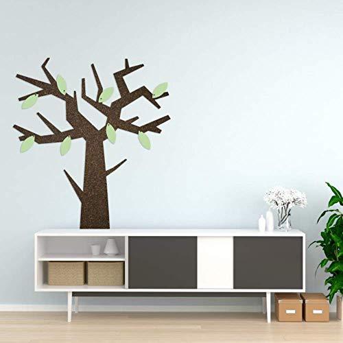 Zibros | Premium Prikbord kurk boom, decoratieve zwarte natuurkurk, prikbord kantoor kantoor, kinderkamer design, muurdecoratie, 3D-effect, verwijderbare dubbelzijdige stickers, XL formaat 90 x 60 x 2 cm