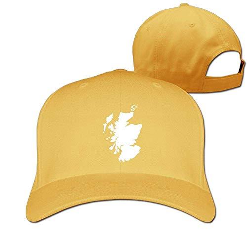 Preisvergleich Produktbild AOHOT Herren Damen Baseball Caps, Hüte,  Mützen,  Classic Baseball Cap,  Scotland Map Unisex Pure Color Baseball Cap Classic Adjustable Ball Hat