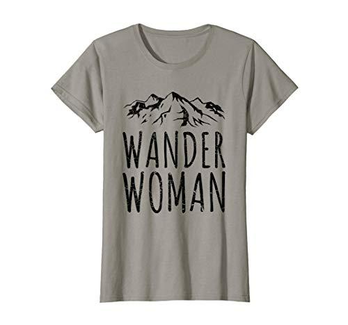 Damen WANDER WOMAN T-Shirt Wandern Trekking Retro Vintage Frauen T-Shirt
