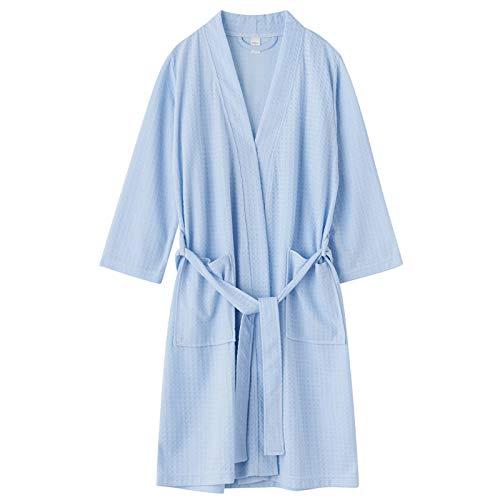 Jixin4you Albornoz para hombre, estilo kimono, ligero, bata de noche, bata de baño M ~ XL