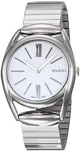 Gucci Horsebit Quartz Movement White Dial Ladies Watch YA140405