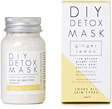 Ginger Lemon DIY Detox Mask - Honey Belle 2oz - Cleaens, Purifies & Detoxes Skin for Glowing Complexion - Fades Scars, Prevents Free Radical Damage and Protects Skin From Aging