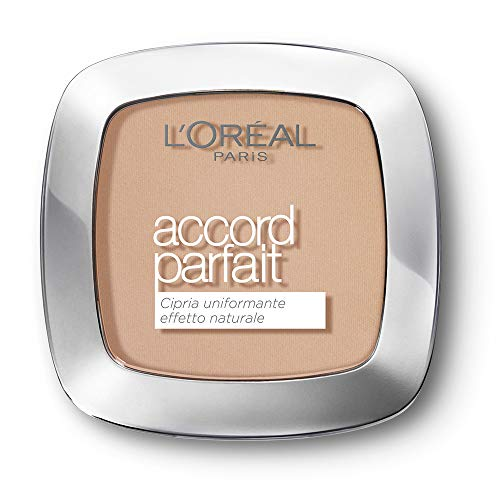 L'Oréal Paris True Match, Polvos Matificantes Accord Parfait, Tono Beige Rose R3