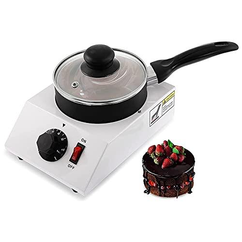 MNSSRN Horno de fusión de Chocolate DIY, Máquina de Templado Fondo de fusión de Chocolate eléctrico Chocolate, Caramelo, Mantequilla, Fondue de Fresa