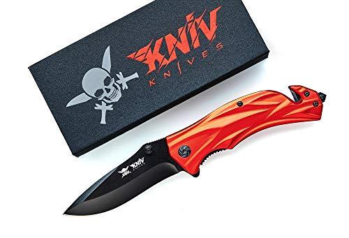 Kniv SEK-01 (Rot) Klappmesser aus hochwertige Edelstahl Messer - Einhandmesser Taschenmesser-Scharfes Outdoor-Messer