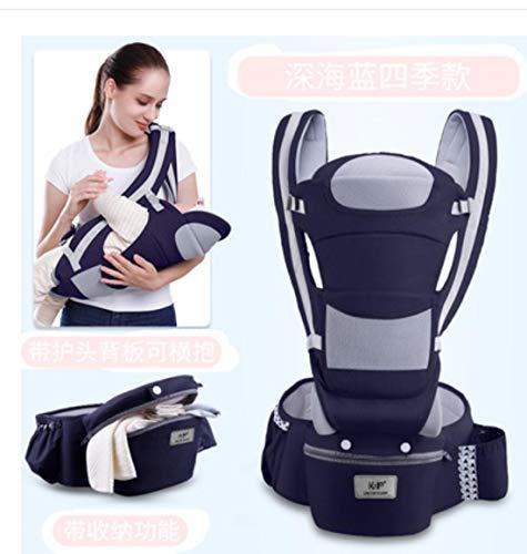 0–48 Monate ergonomische Babytrage für Kleinkinder, Baby-Tragesitz, ergonomisches Känguru-Tragetuch für Babys auf Reisen L D