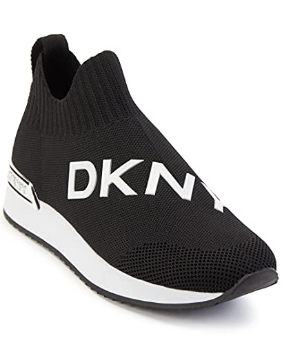 DKNY Tenis ligeros para mujer, (Negro/Blanco May), 38.5 EU