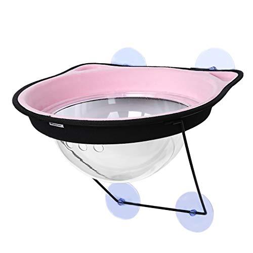 Baslinze Katzenhaus für Draußen, Winterfest Katzenhöhle Faltbar Haus mit Abnehmbarem Matratze Weich und Warm für Hund Katze Hündchen Kaninchen (Pink)