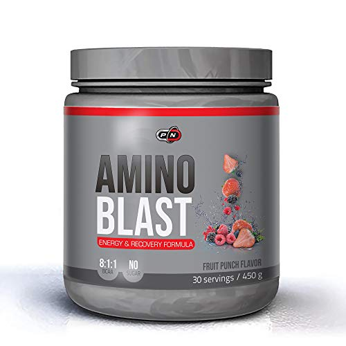 Pure Nutrition AMINO BLAST|30 90 Servings|BCAA Powder 8 1 1 Branched Chain Amino Acids Complex|Intra Workout Energy Muscle Recovery Drink|Leucine Glutamine Alanine Citrulline Taurine Electrolyte Blend