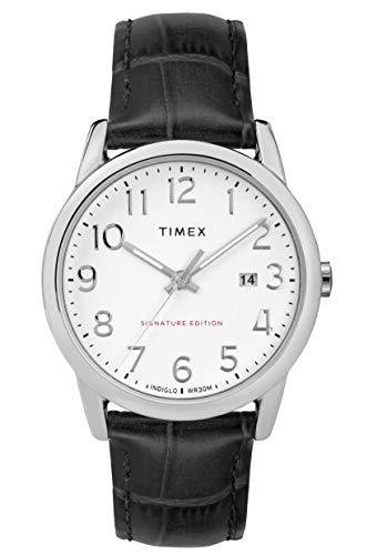 Timex Herren Analog Quarz Uhr mit Leder Armband TW2R64900